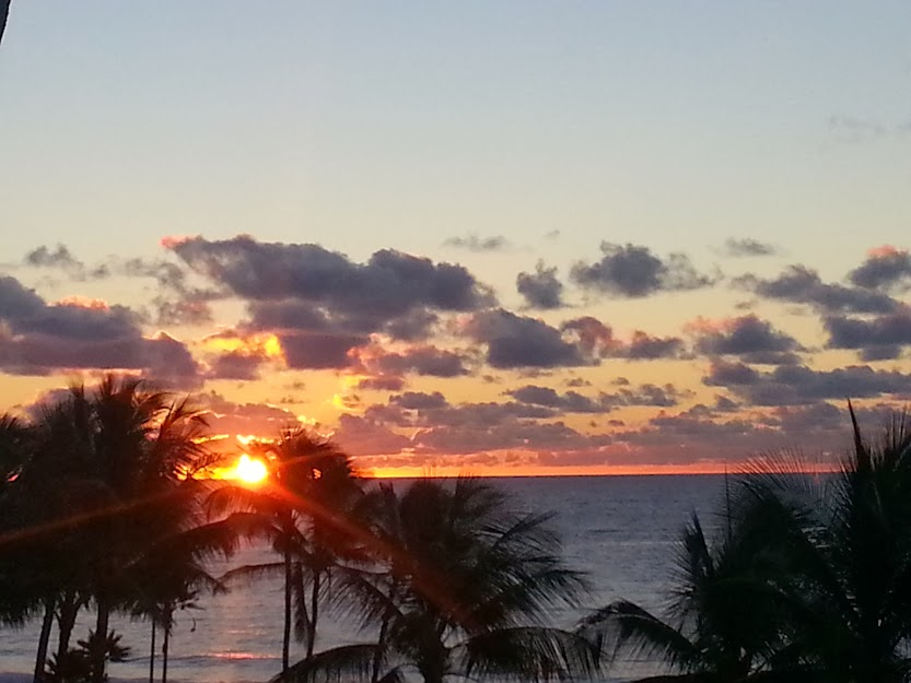 Sunrise in Poipu at the Grand Hyatt Kauai